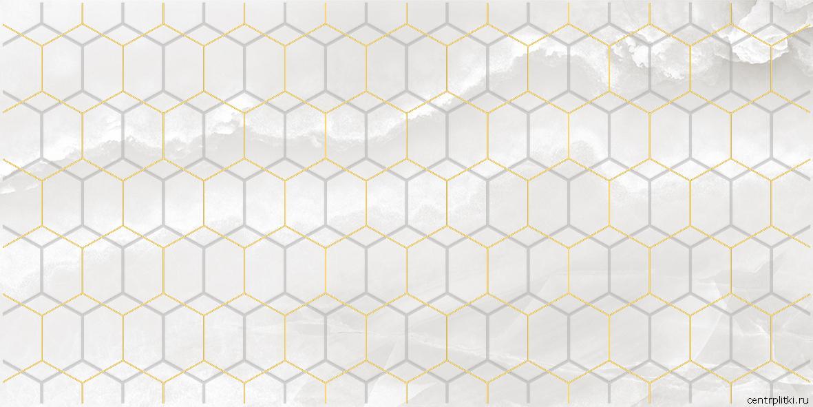 Prime Декор белый 25x50