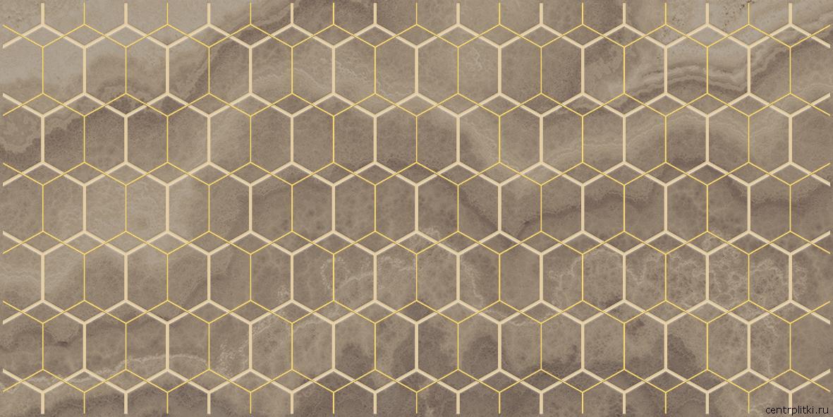 Prime Декор коричневый 25x50