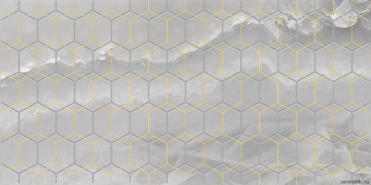 Prime Декор серый 25x50