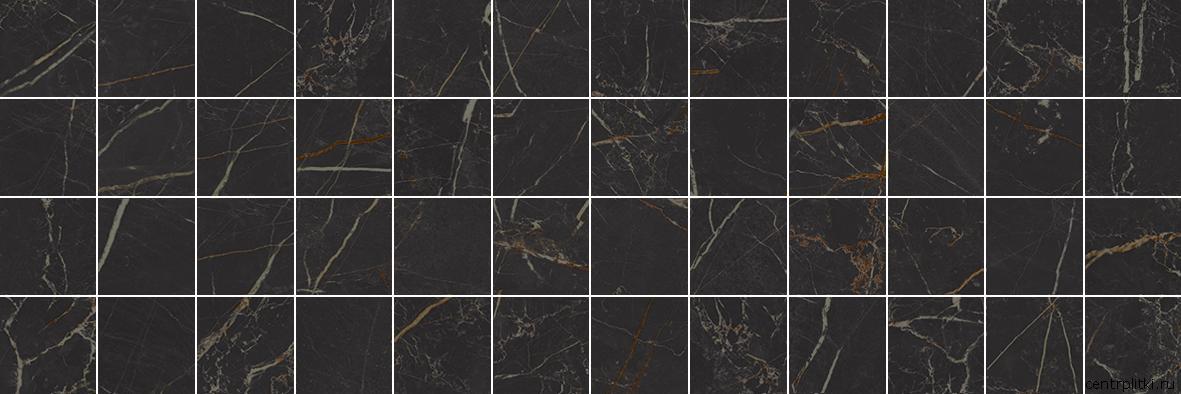 Royal Декор мозаичный чёрный MM60074 20x60