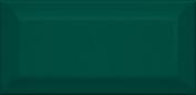 Клемансо Плитка настенная  зелёный грань 16058 7,4x15