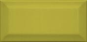 Клемансо Плитка настенная  оливковый грань 16055 7,4x15