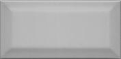Клемансо Плитка настенная  серый тёмный грань 16054 7,4x15