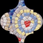 Арабески Майолика Декор Гауди OP\\A170\\65000 6,5x6,5